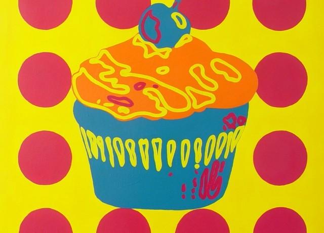 "Cupcake, parasol b // 30""x30""x1.5"" // Acrylic // 2012"