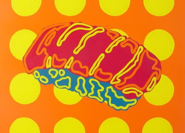 """Sushi, parasol b // 30""""x30""""x1.5"""" // Acrylic // 2012"""
