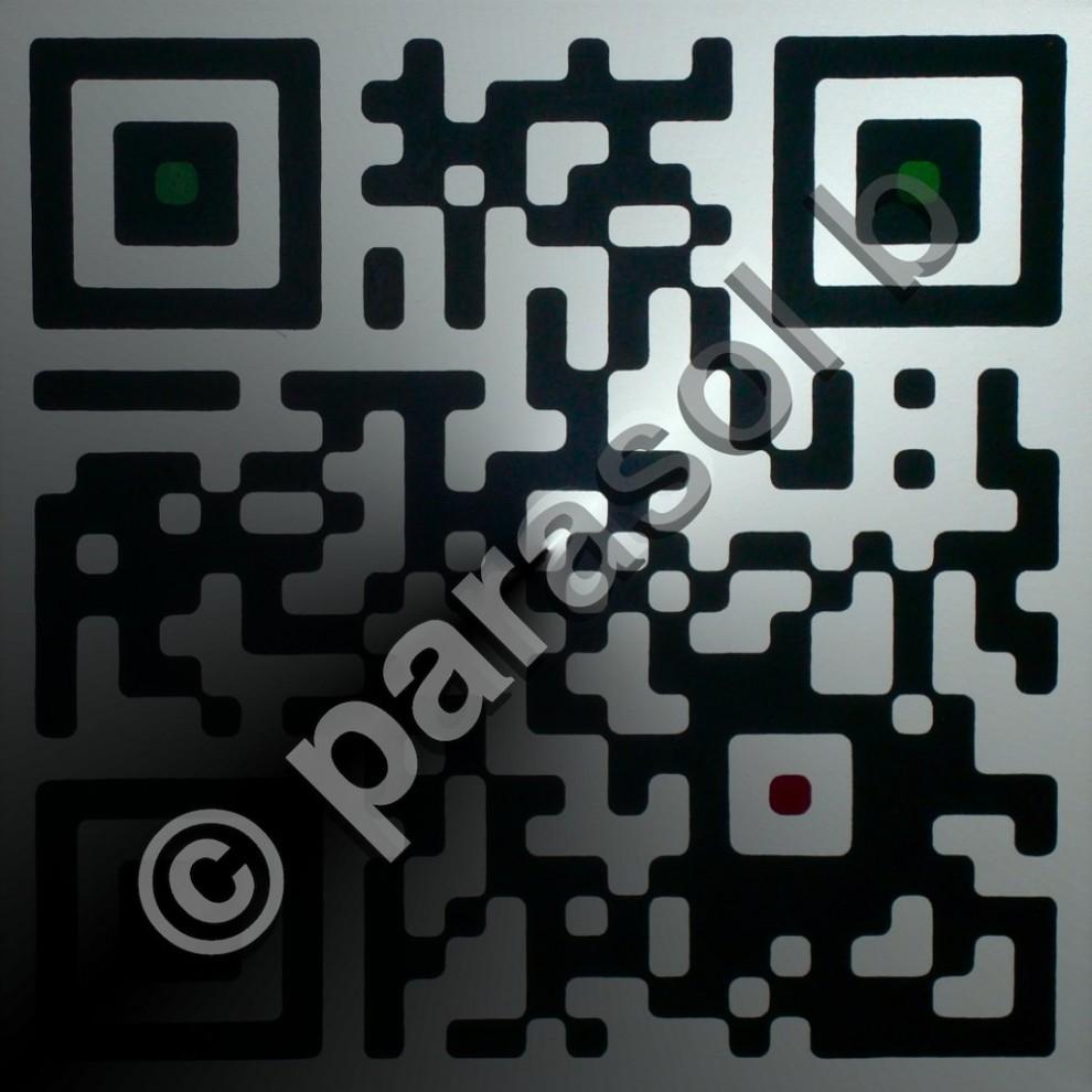 "formation:red.green, parasol b // 24""x24""x1.5"" // Acrylic // 2011"