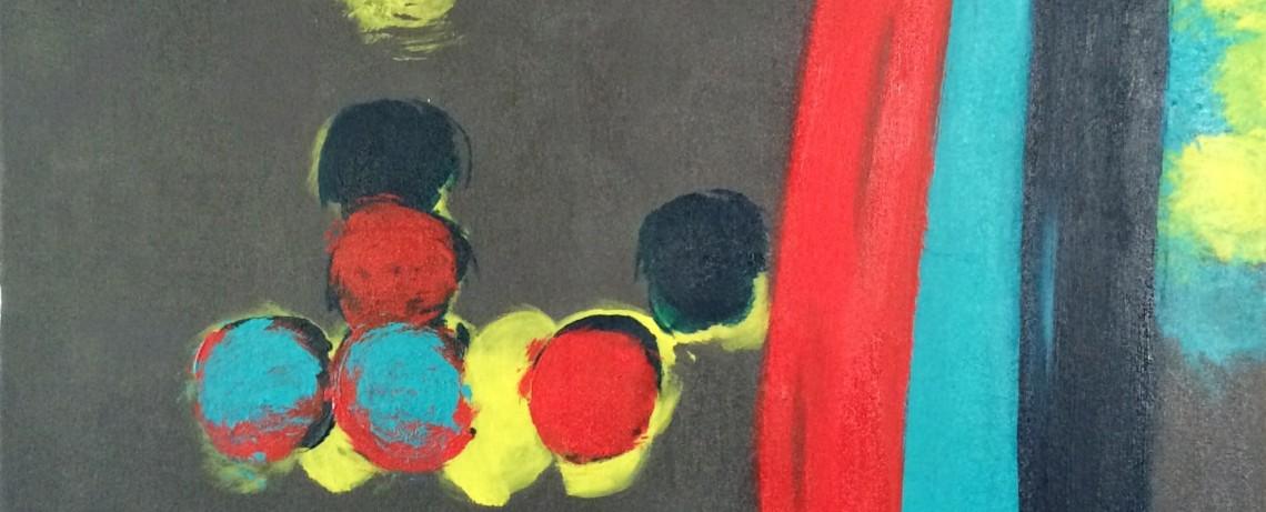 """Smudgies #2, parasol b // 30""""x48""""x1.5"""" // Acrylic // 2014"""