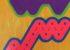 "parasol b // 30""x30""x1.5"" // Acrylic Spray Paint on Stretched Canvas // 2016"